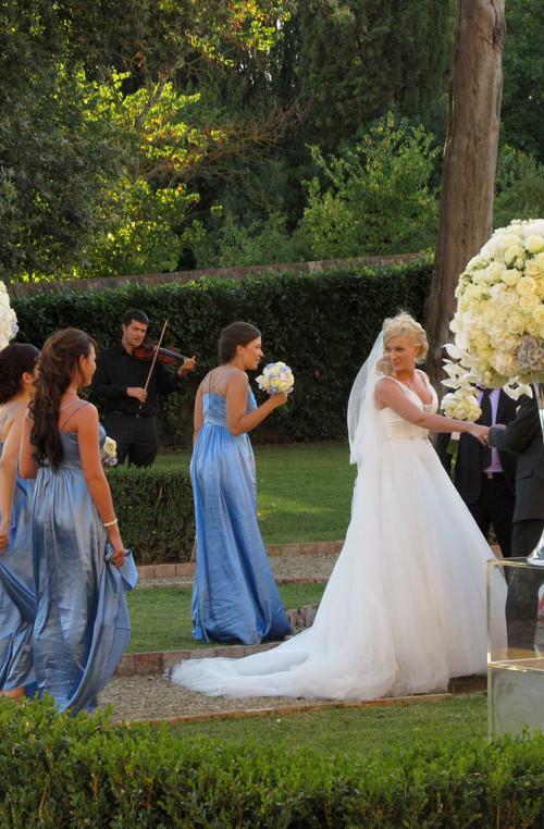 Super chic luxury wedding in Tuscany