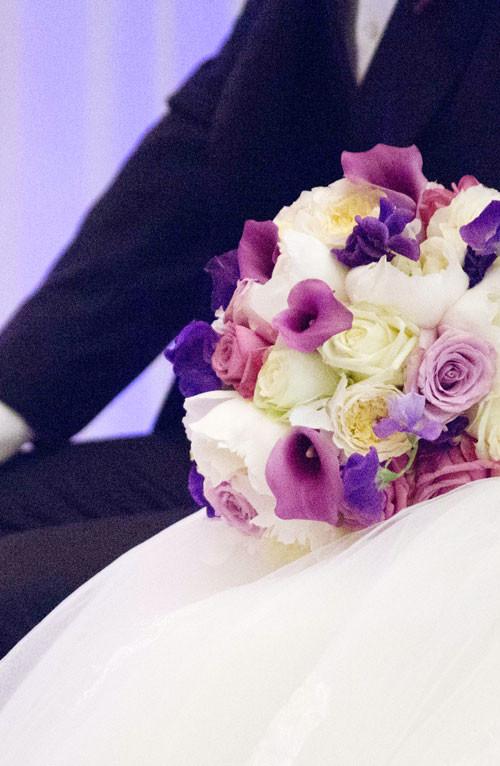 Blush purple bouquet