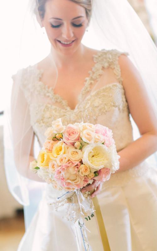 Charming Blush soft pink Wedding  in Tuscany