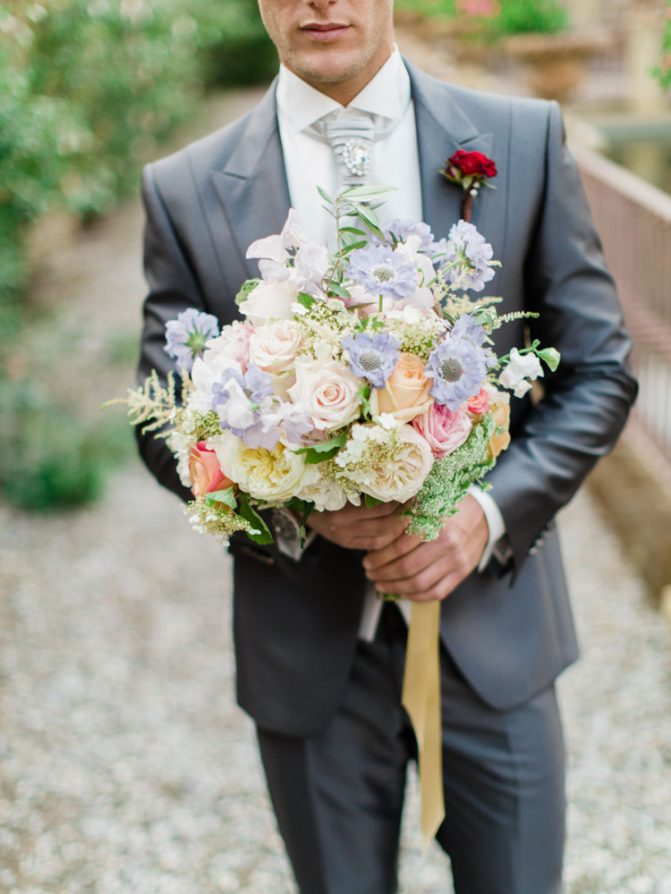 lavish-bridal bouquet-pink-peach-lavander