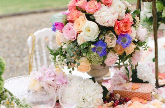 peach pink blue accent wedding color palette