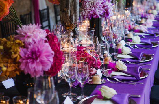 ultra-violet wedding reception