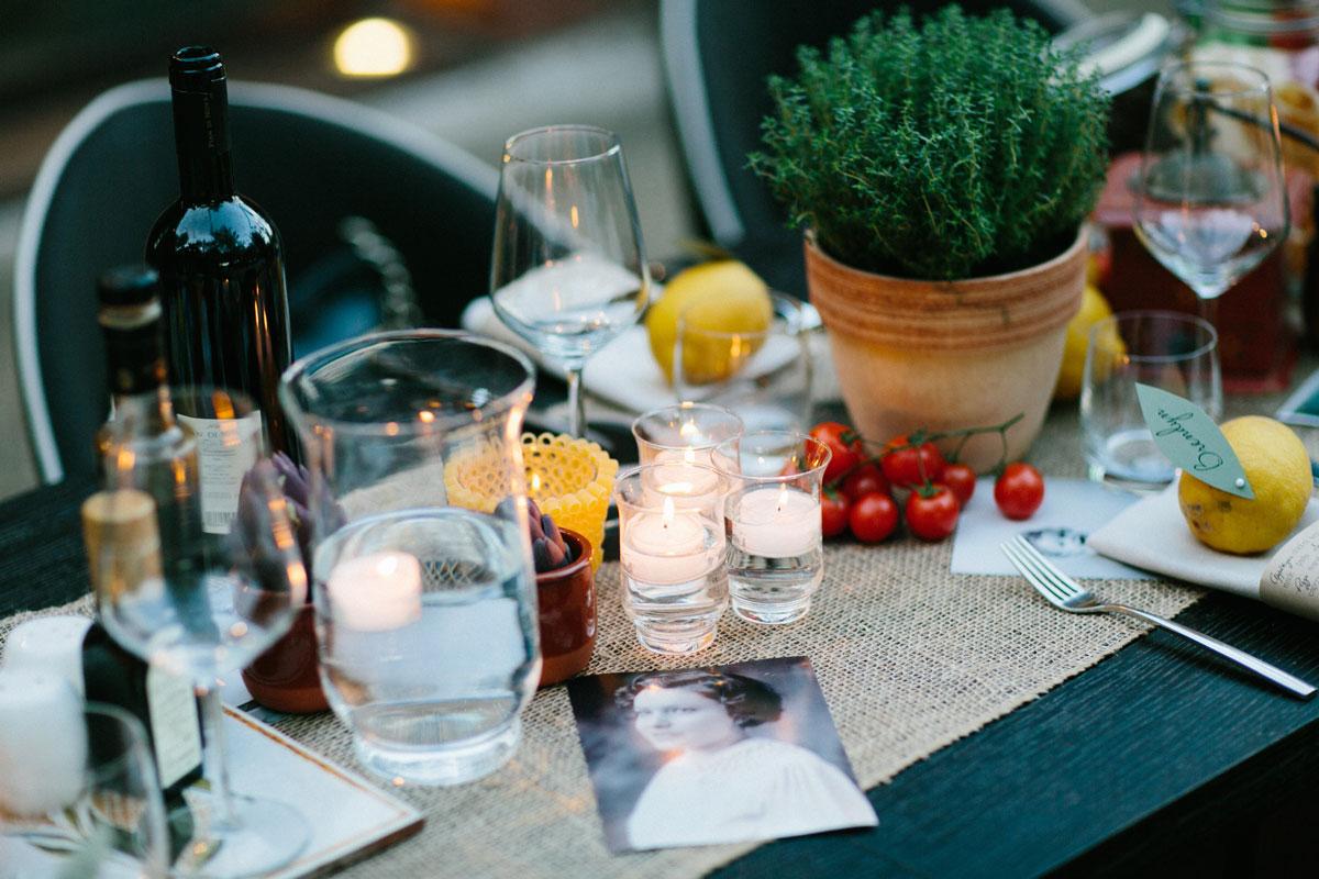 foody wedding reception