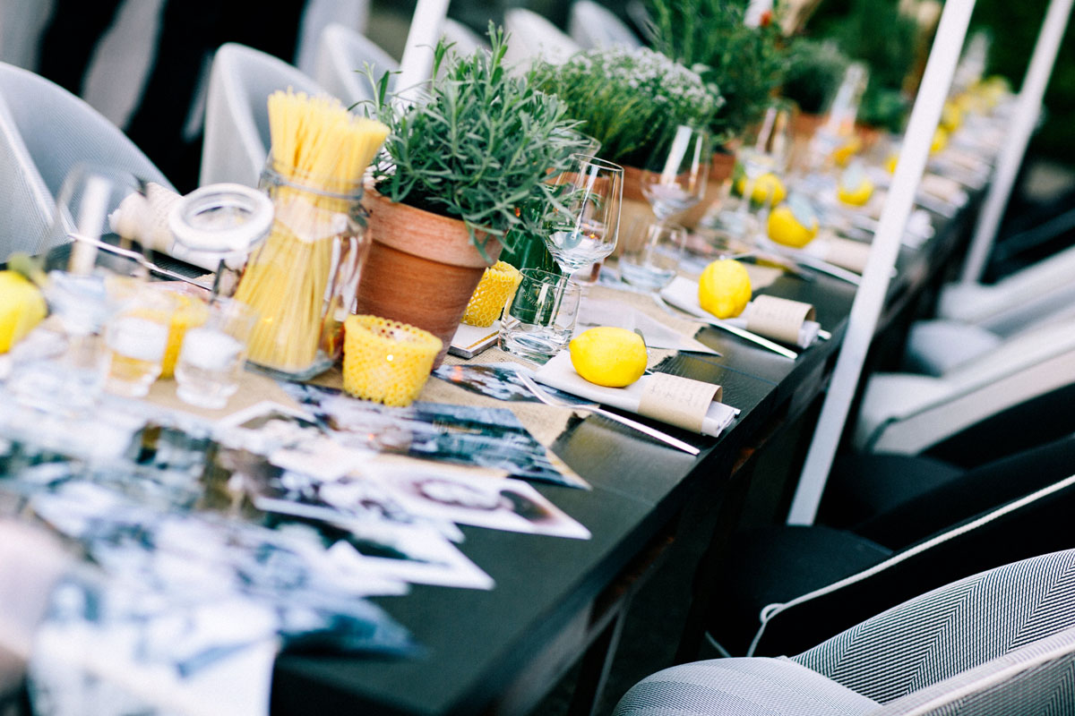 Foody wedding tablescape