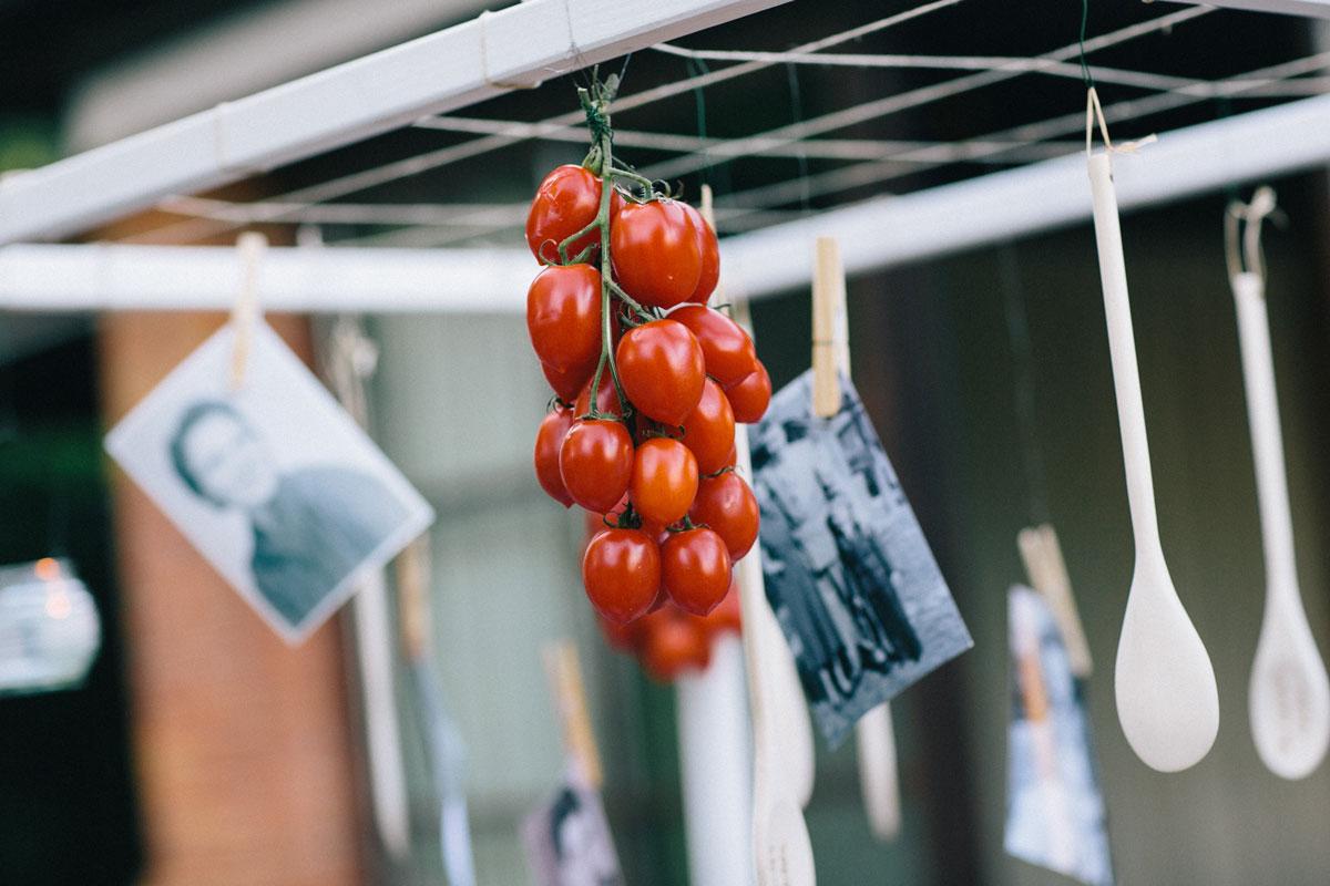 Foody wedding detail