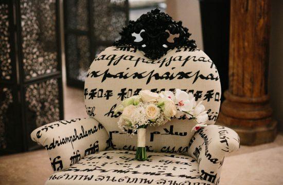orchid cascading bridal bouquet