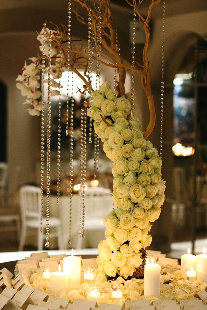 white opulent escort table