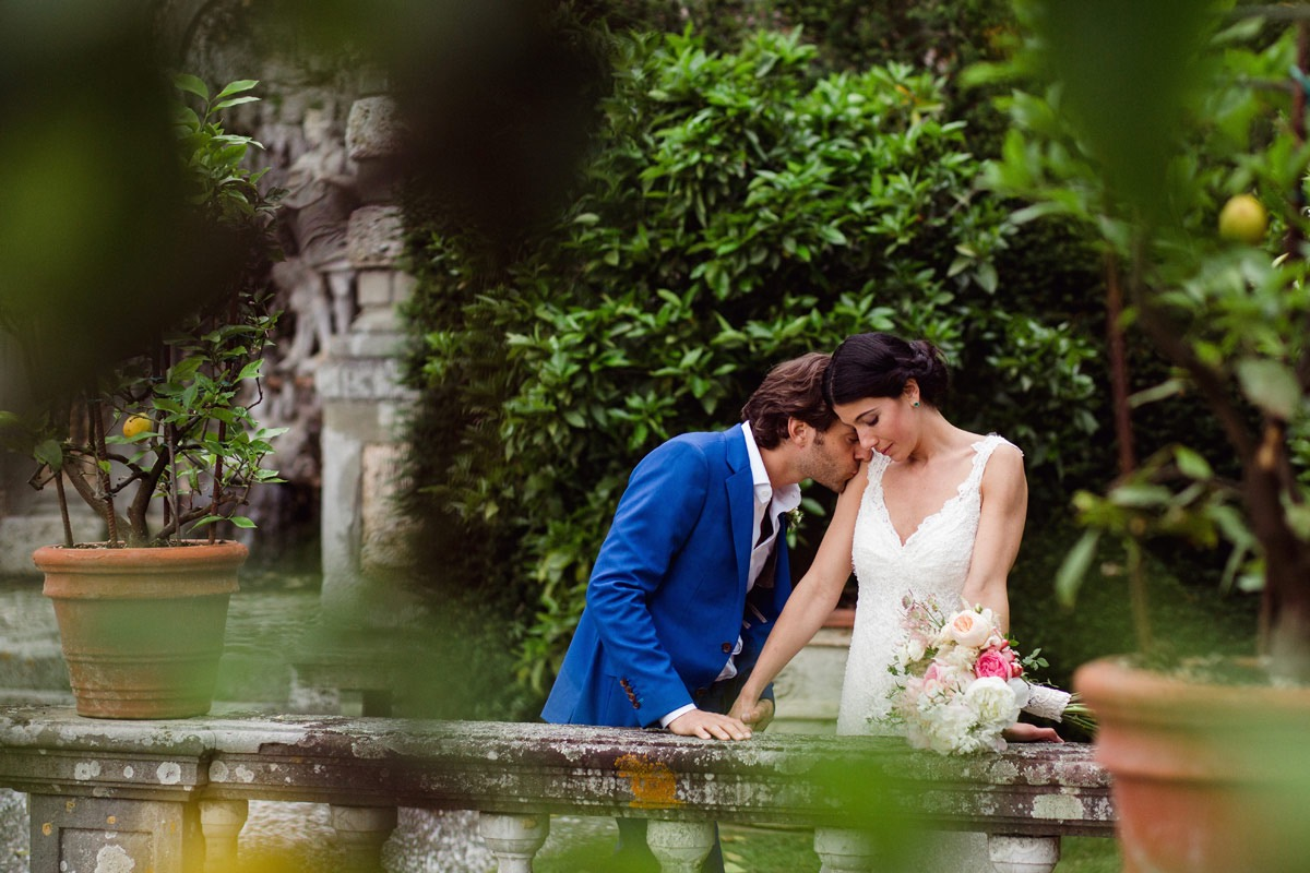 secret garden wedding in Italy