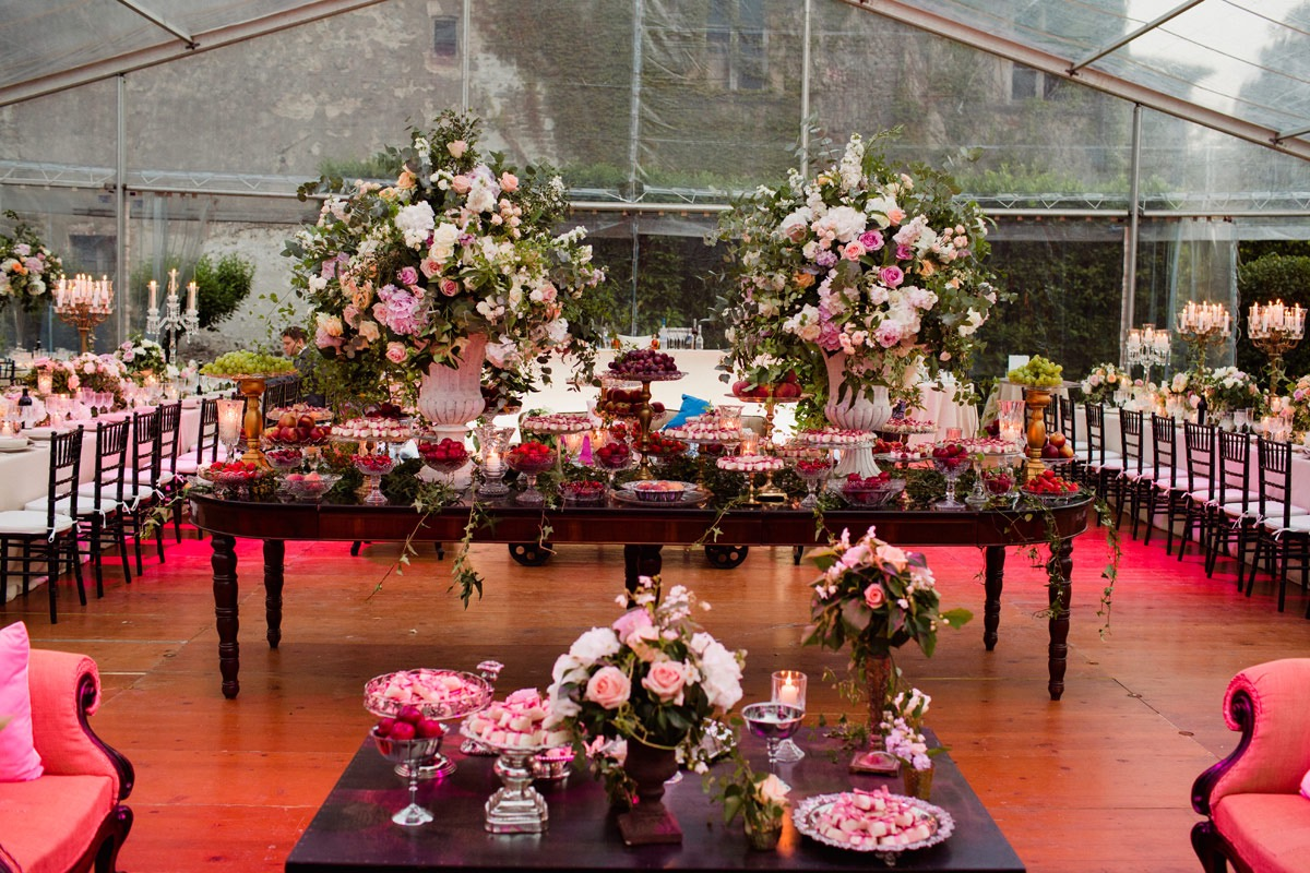 secret garden theme sweet table