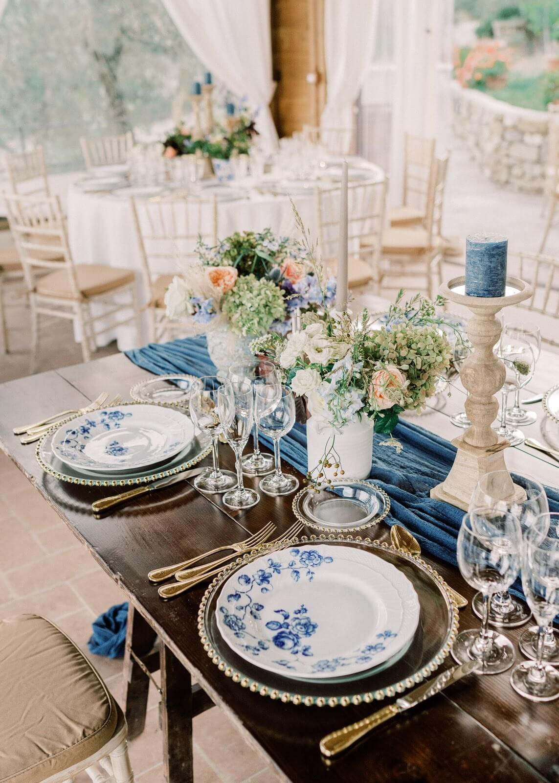 tuscan blue wedding