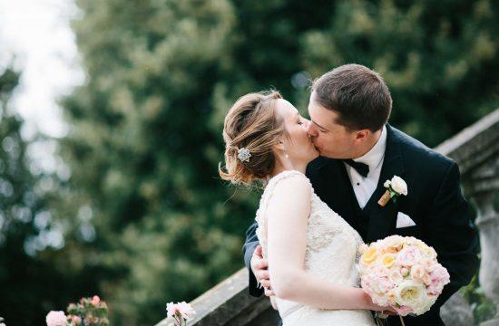 blush and peach wedding