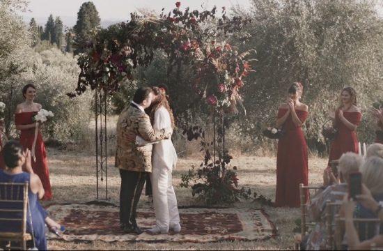 red passino wedding