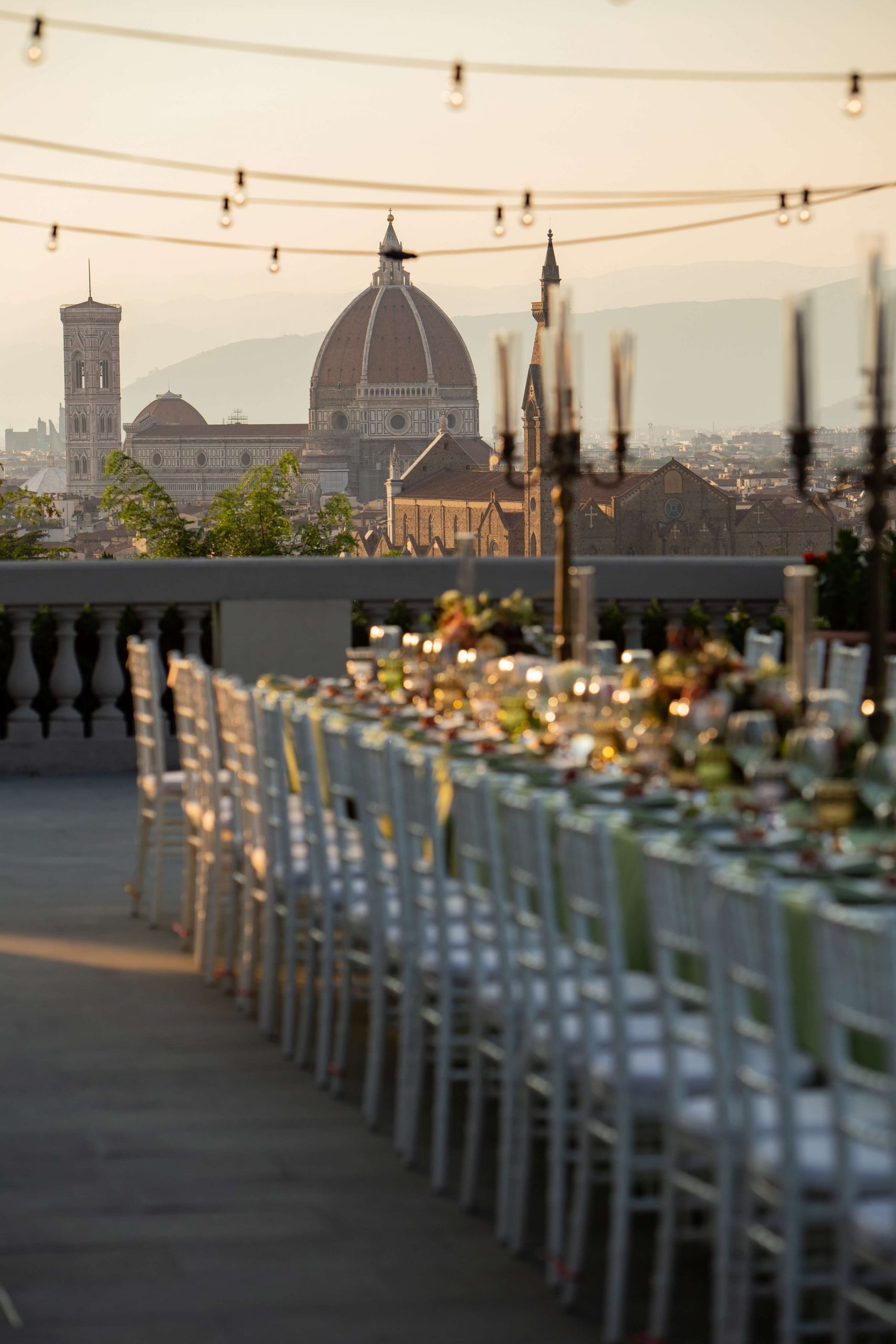 breathtaking view panorama of Florence wedding venue